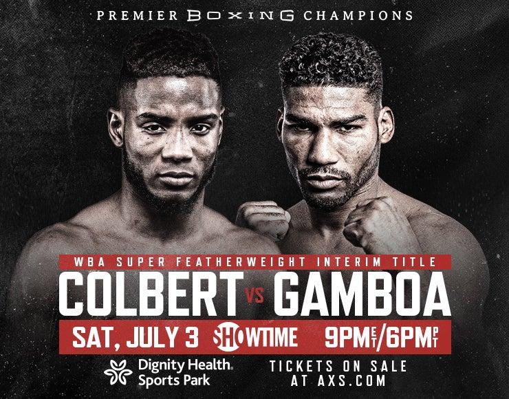 More Info for Premier Boxing Champions: Colbert vs Gamboa