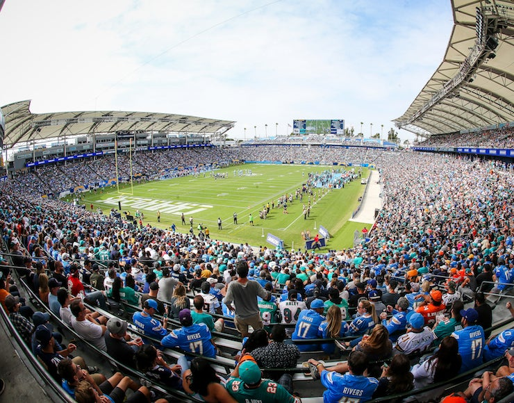 More Info for Photo Gallery: The Los Angeles Chargers host their first regular season game at StubHub Center