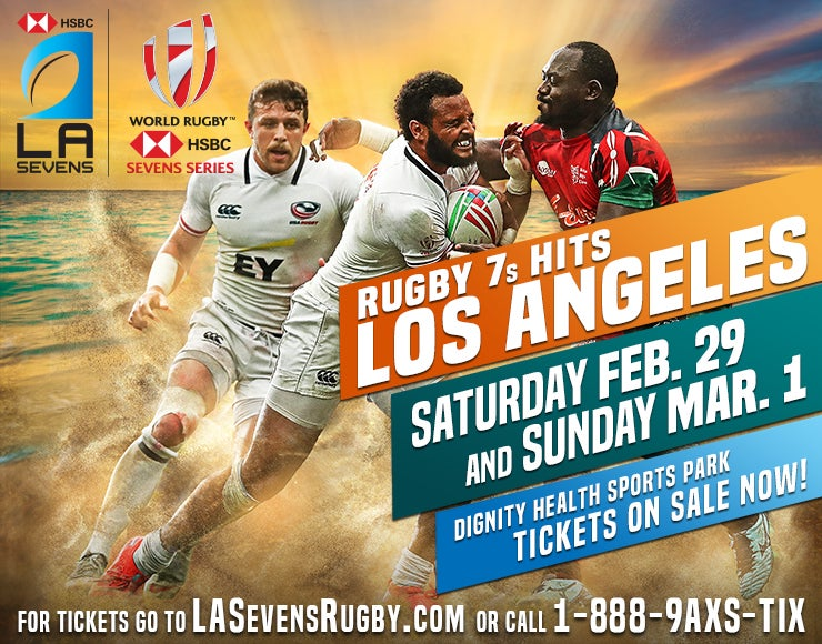 Tickets Go On Sale Today for HSBC LA Sevens – Round 5 of the HSBC World Rugby Sevens Series at Dignity Health Sports Park on Feb. 29-March 1