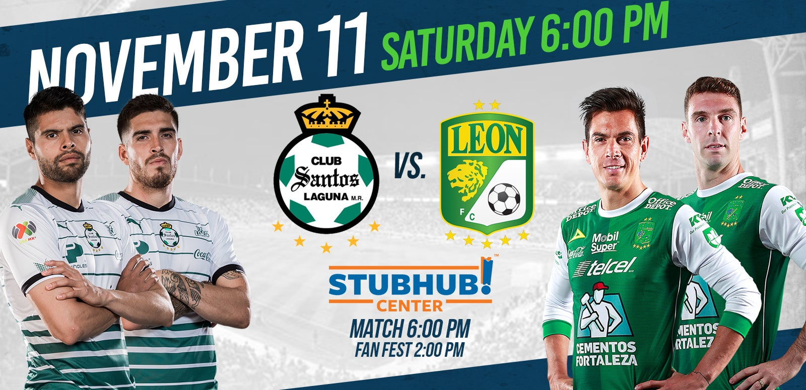 More Info for StubHub Center to host Santos Laguna and Club León in Friendly Match on Nov. 11