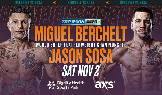 Boxing: Miguel Berchelt vs. Jason Sosa