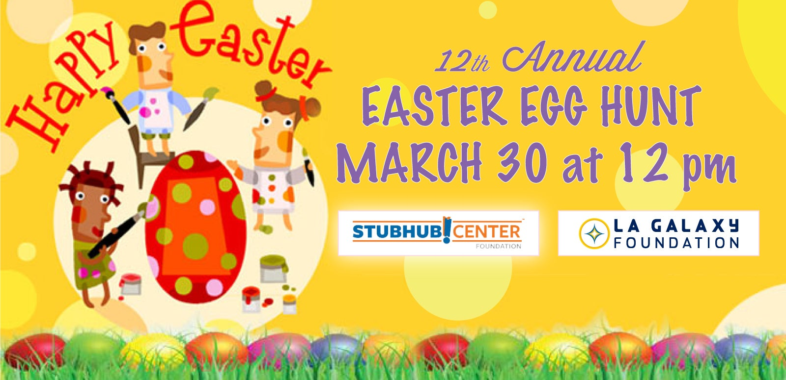 The StubHub Center Foundation and LA Galaxy Foundation 12th Annual Easter Egg Hunt