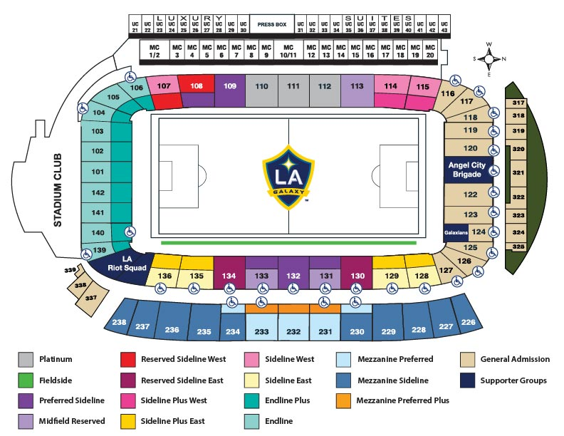 Soccer Seating Map