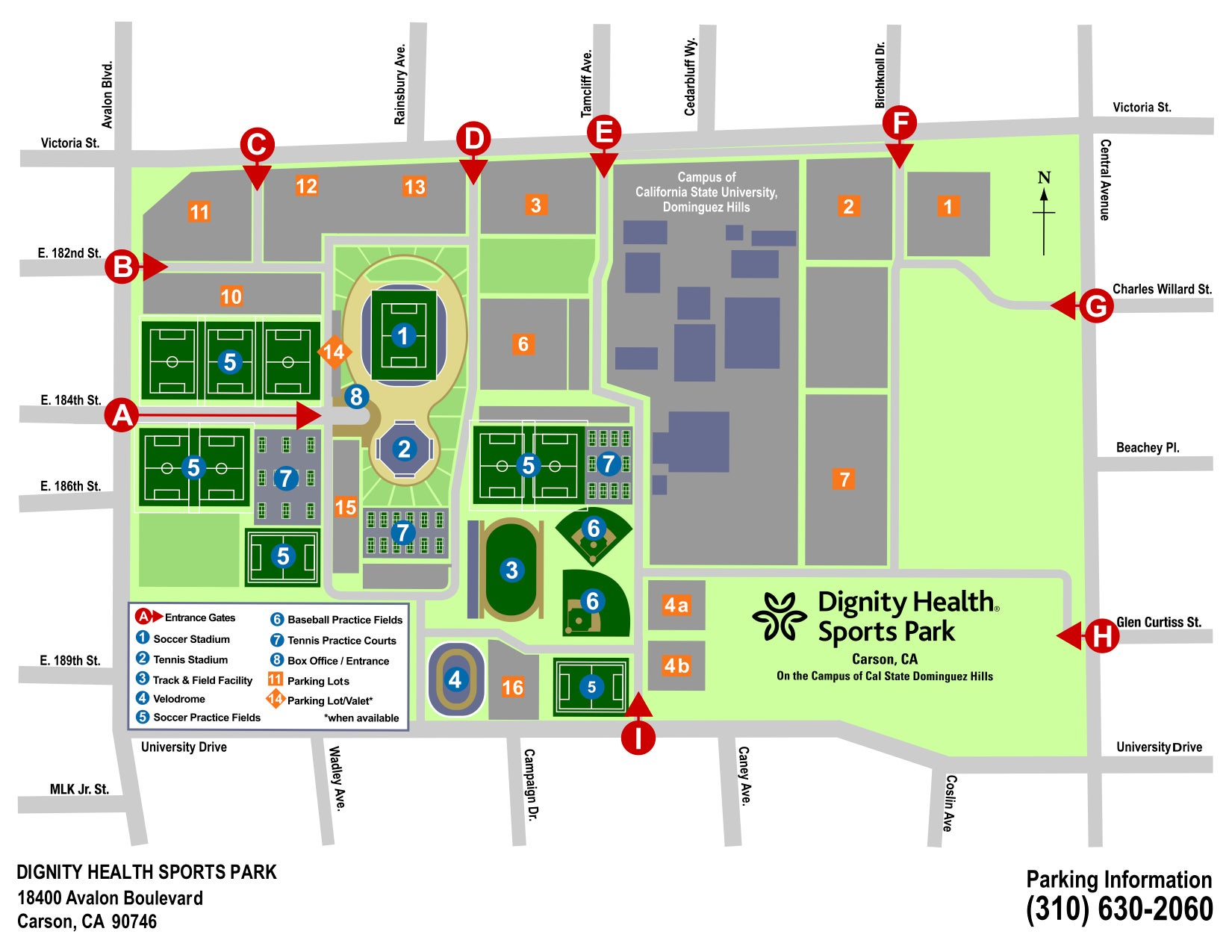 General Parking Information | Dignity Health Sports Park