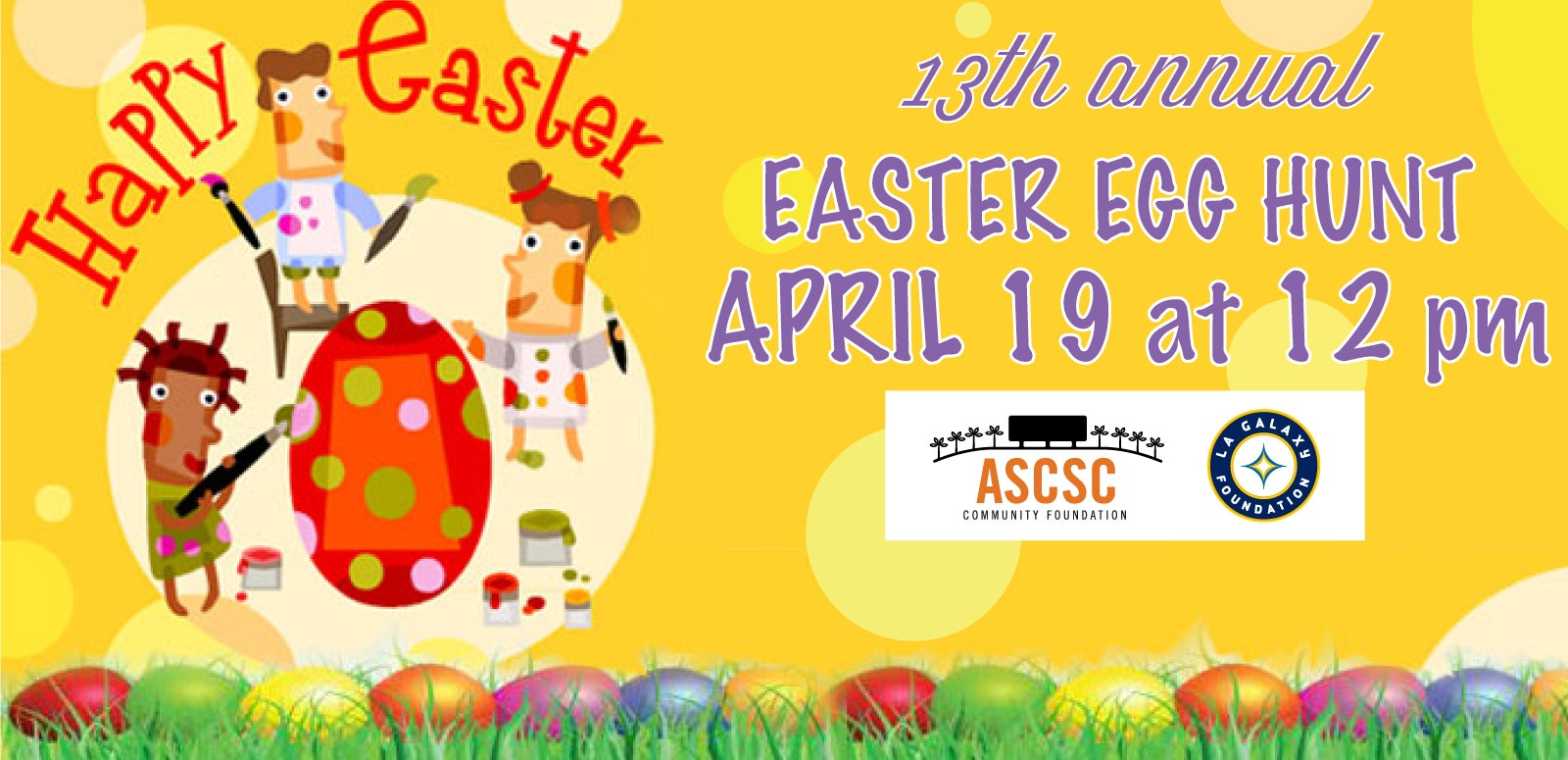 The ASCSC Community Foundation and LA Galaxy Foundation 13th Annual Easter Egg Hunt