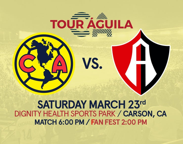 More Info for Tour Águila: Club America vs. Atlas