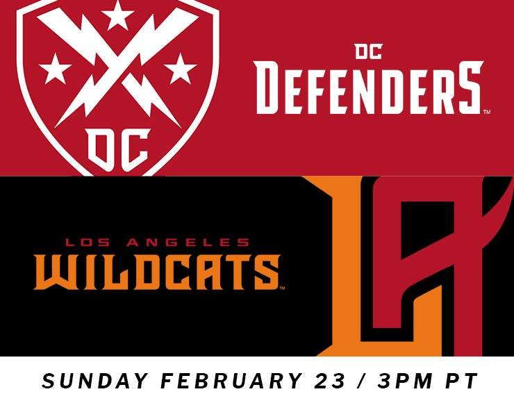 XFL: Los Angeles Wildcats vs. DC Defenders