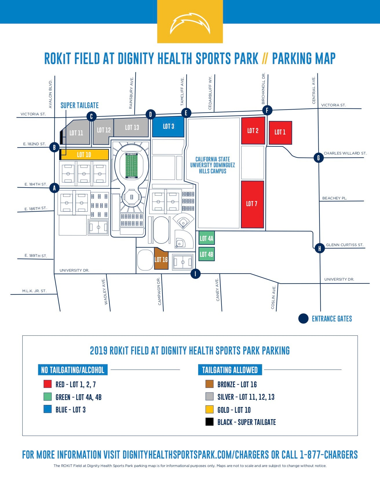 Chargers Parking | Dignity Health Sports Park