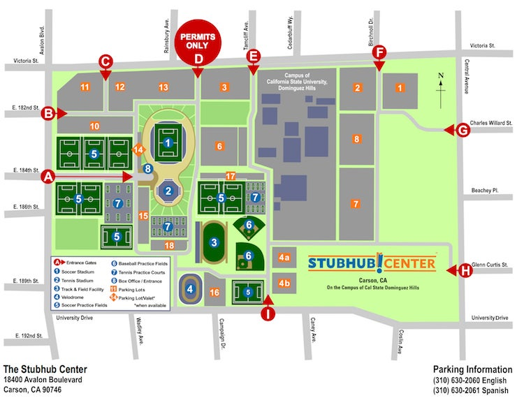 Stubhub Center Map General Parking Information | StubHub Center Stubhub Center Map