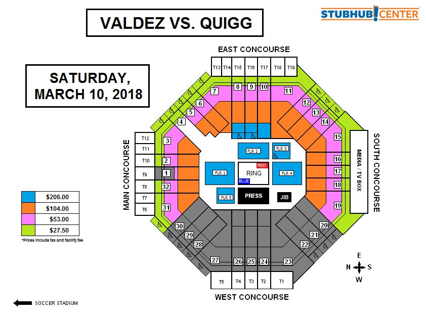 World Championship Boxing Valdez Vs Quigg Stubhub Center