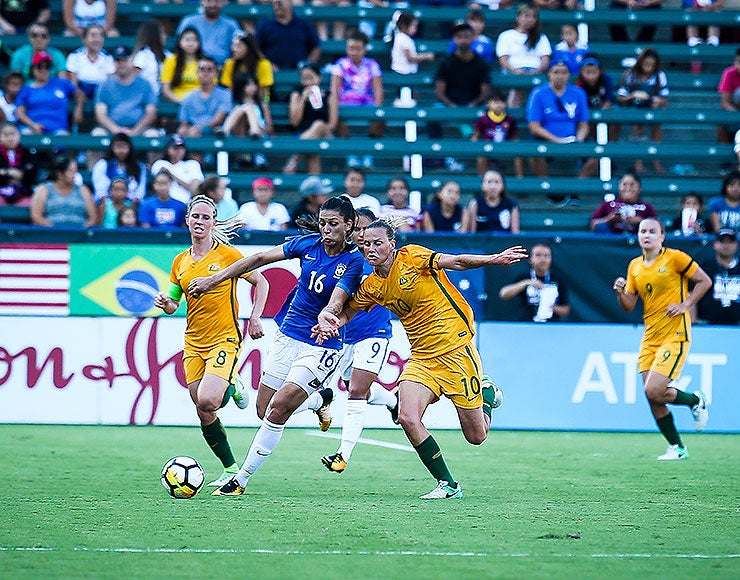 More Info for Photo Gallery: Matildas defeat Brazil 6-1 to win 2017 Tournament of Nations