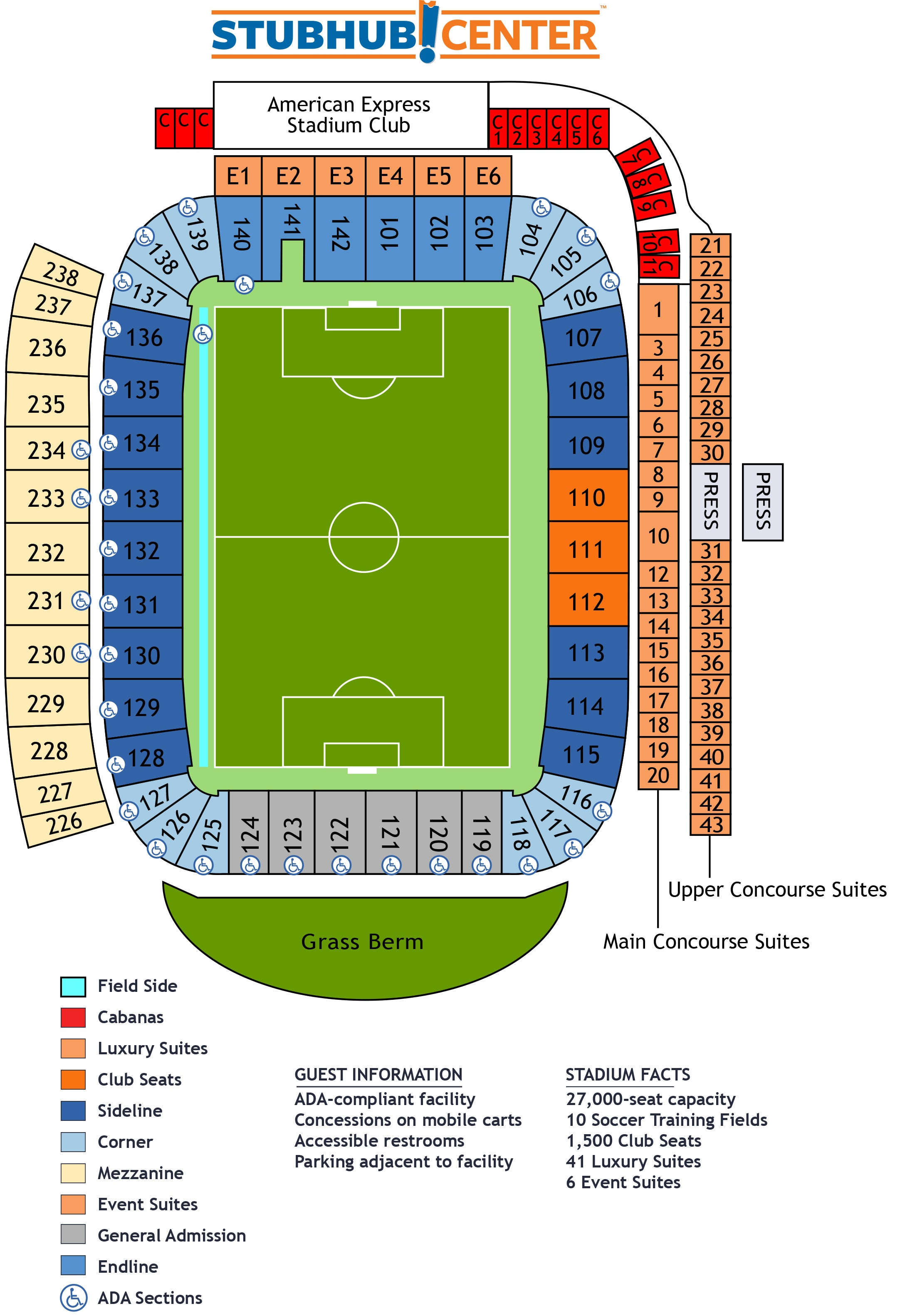 View Soccer Stadium Seating Map